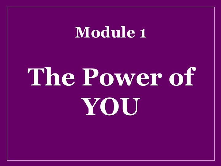 MMM Module 1